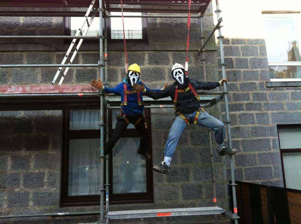 Scaffolders Horseplay At Work Funniest Moments Scaffmag Com
