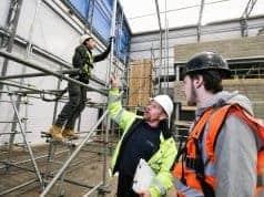 Image shows scaffolding training