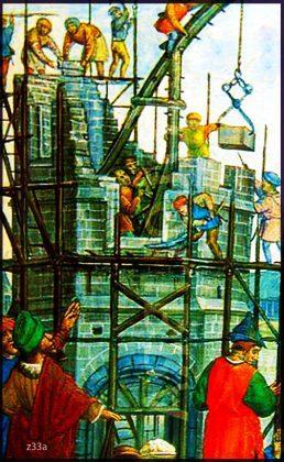 History of Scaffolding 12th Century Scaffolders