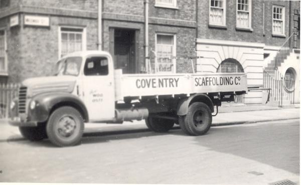 coventry scaffolding lorry
