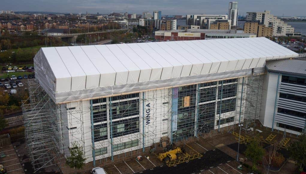 Atlantic Scaffolding chose Generation UNI Roof for Temporary Roof project