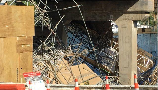 Bridge Scaffolding Collapse