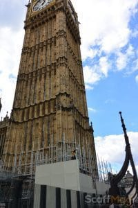 Scaffolding on Big Ben London