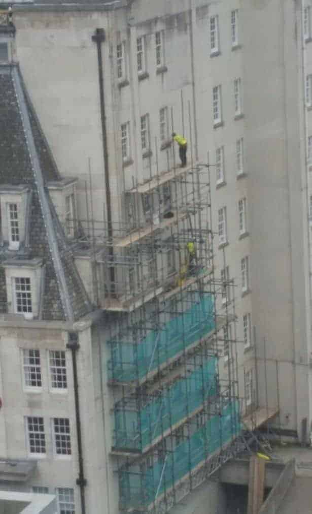 Scaffolder not clipped on