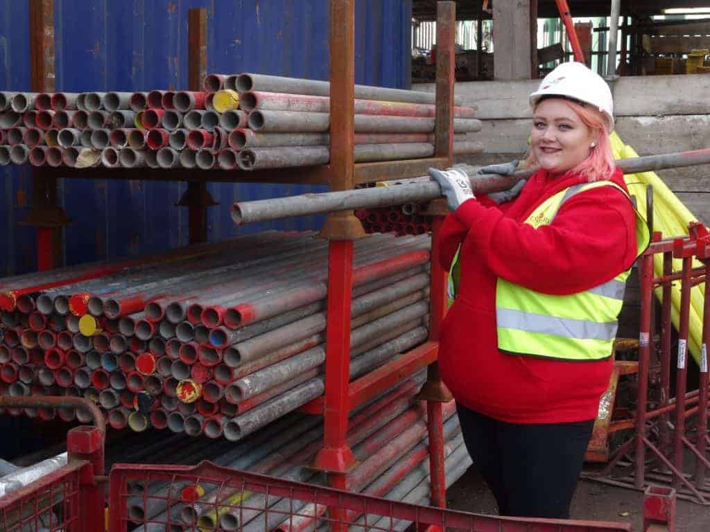 Formark Scaffolding First Female Apprentice