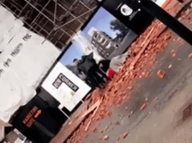 Tower crane drops load