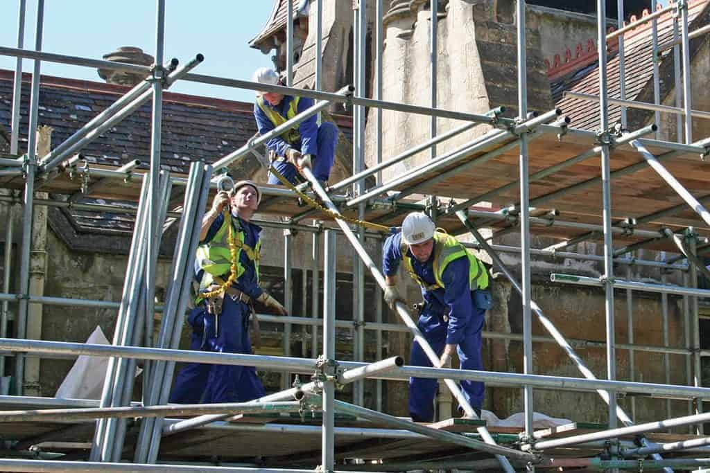 Scaffolders have a Physical Job
