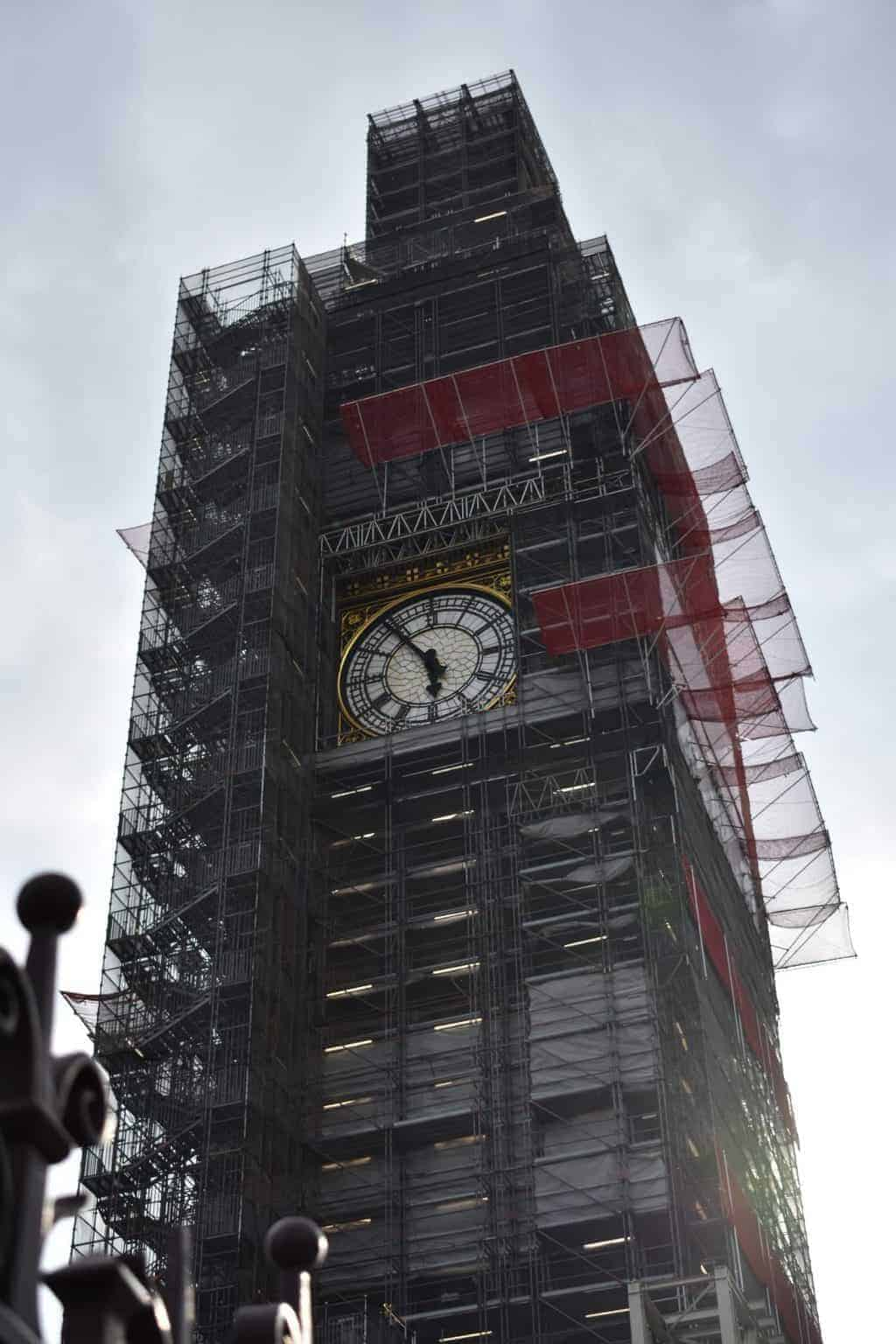 Scaffolding on Big Ben