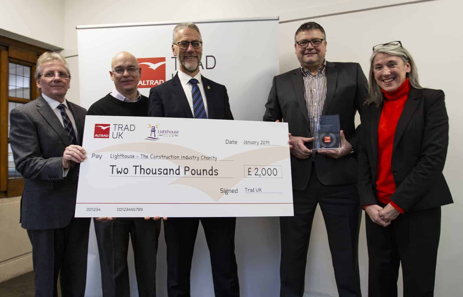 TRAD UK donates £2k to Lighthouse Charity for Mental Health support