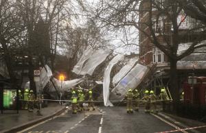 Scaffolding Collapse London