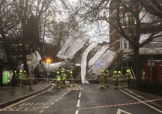 Scaffolding Collapse London