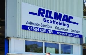 Kevin Mee Contracts Manager and Paul Wallis Director outside the new Rilmac Depot in Northampton.
