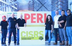 Image shows the CISRS Overseas Scaffolder Training Scheme in Malaysia