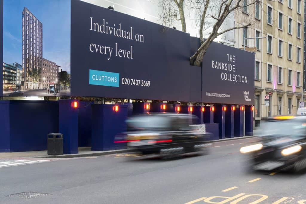 Image showing a building wrap by Lavastar on a busy London Street