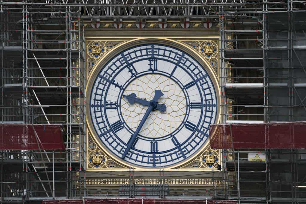 Image shows the clock face of Big Ben / Elizabeth Tower