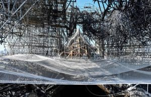 Notre Dame still at risk from tons of fire-damaged scaffolding