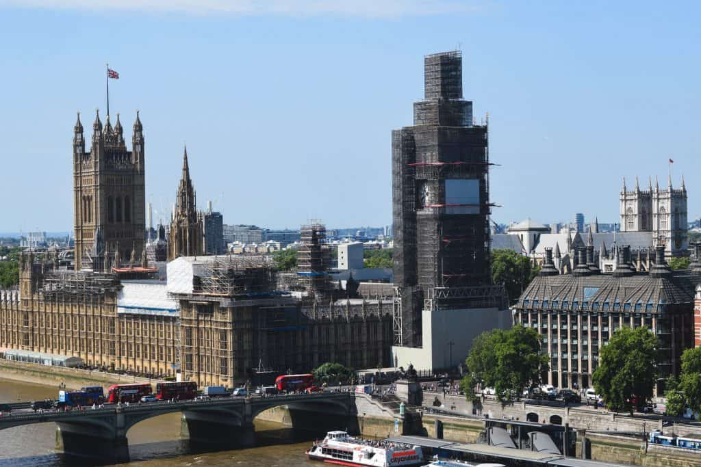 Top section of Layher scaffolding to be removed on Big Ben
