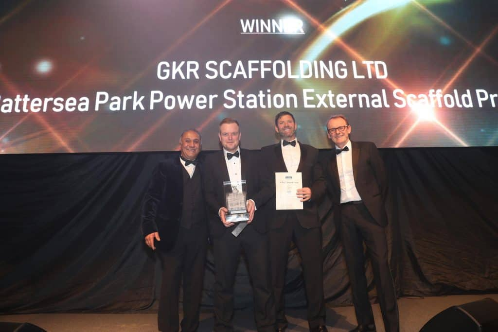 GKR Scaffolding Ltd winner of Project of the Year (£5m+ Turnover)