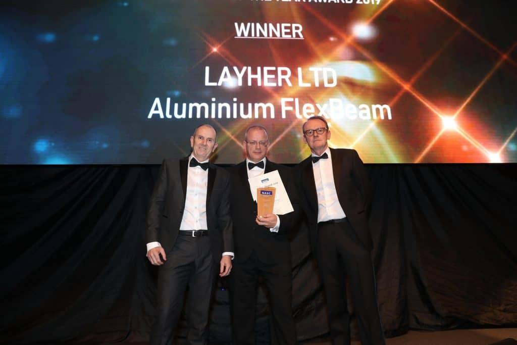 NASC innovation of the year 2019 Layher Ltd Flex Beam