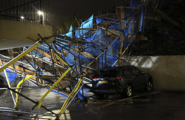 scaffold collapse at Orpington tower block
