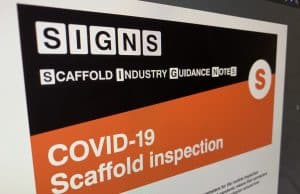 Scaffolding Association Issues Emergency Industry Guidance Notes on Scaffolding Inspections