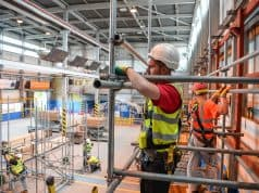 Scaffolders in training at SIMIAN