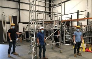 PASMA scaffold tower training course taking place at Kentec Training