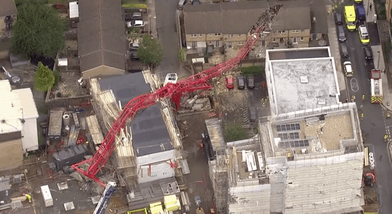 tower crane collapse London