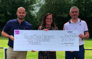 Proplant Scaffolding donate £10K to Taylor Made Dreams