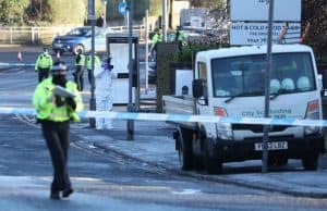 A boss of a Glasgow scaffolding firm and his employee have been wounded after being caught up in an early morning gun attack.