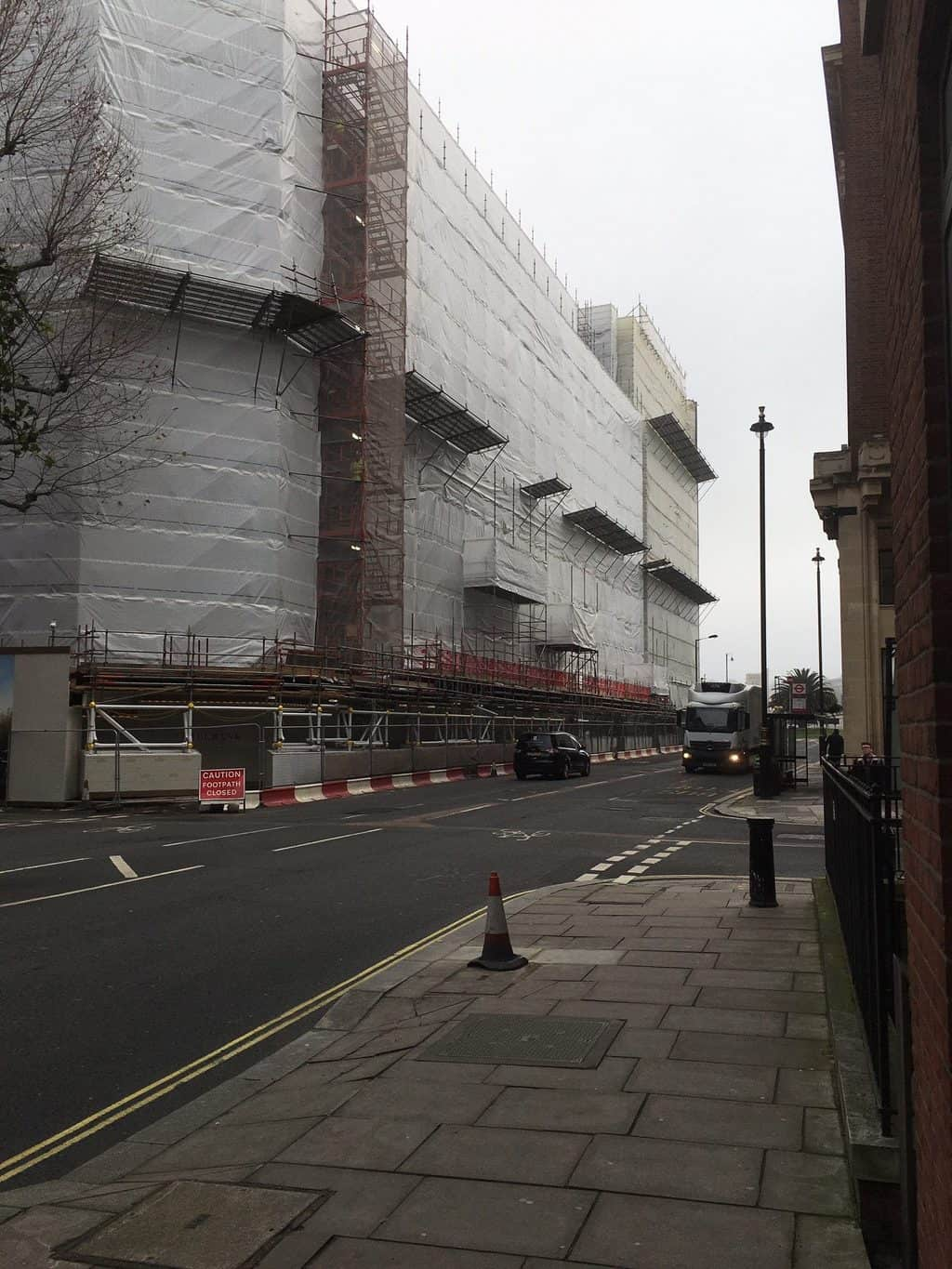 TRAD Scaffolding Contractors (TRAD) has completed the erection stage of work on 9 Millbank, a busy central London development managed by St Edwards Homes.