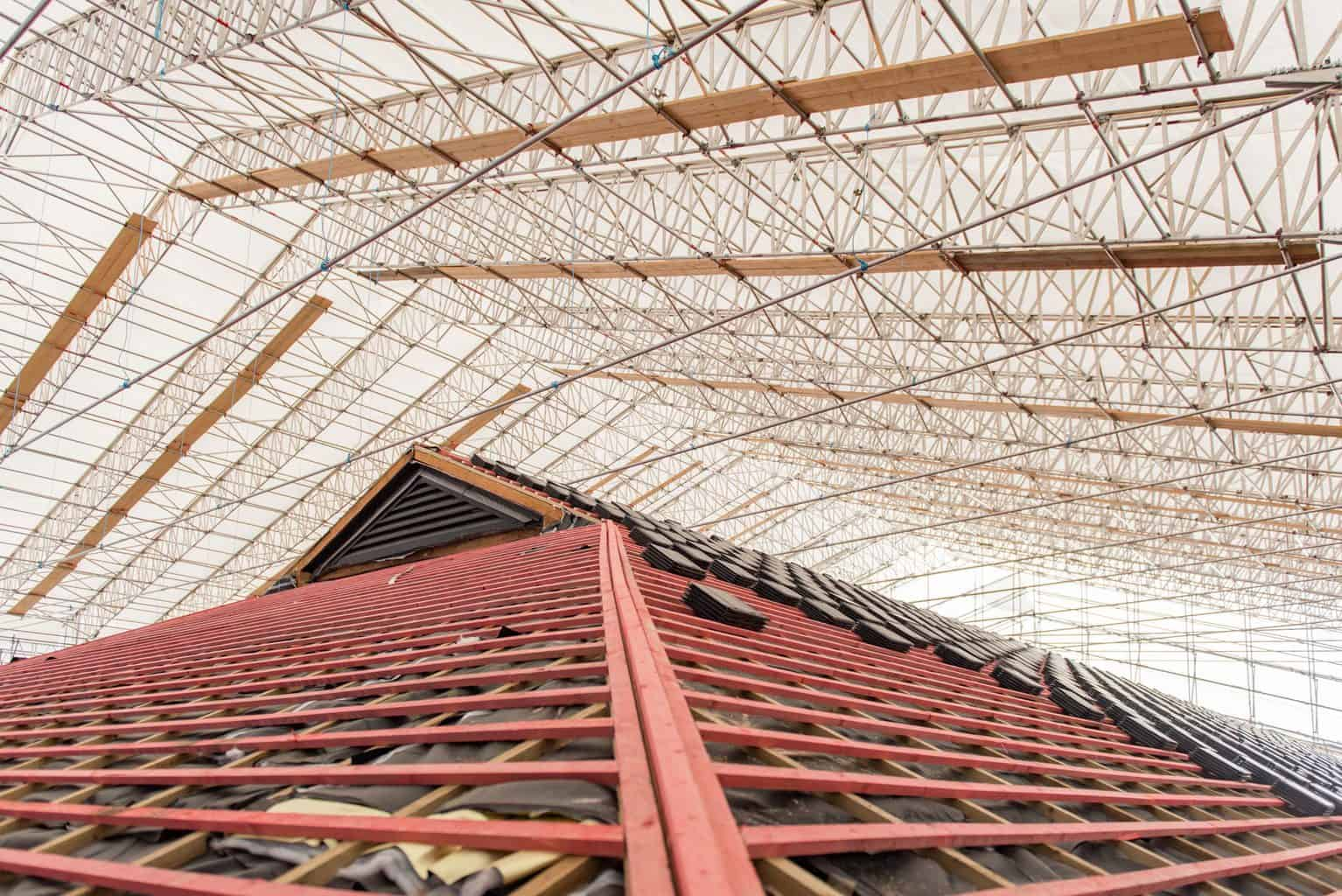 the UK's largest bespoke temporary roof