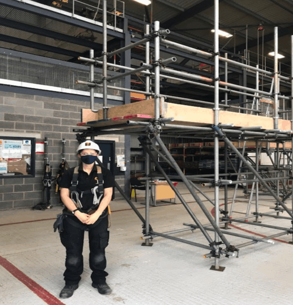 Safety & Access Celebrating A Female Scaffolders Success
