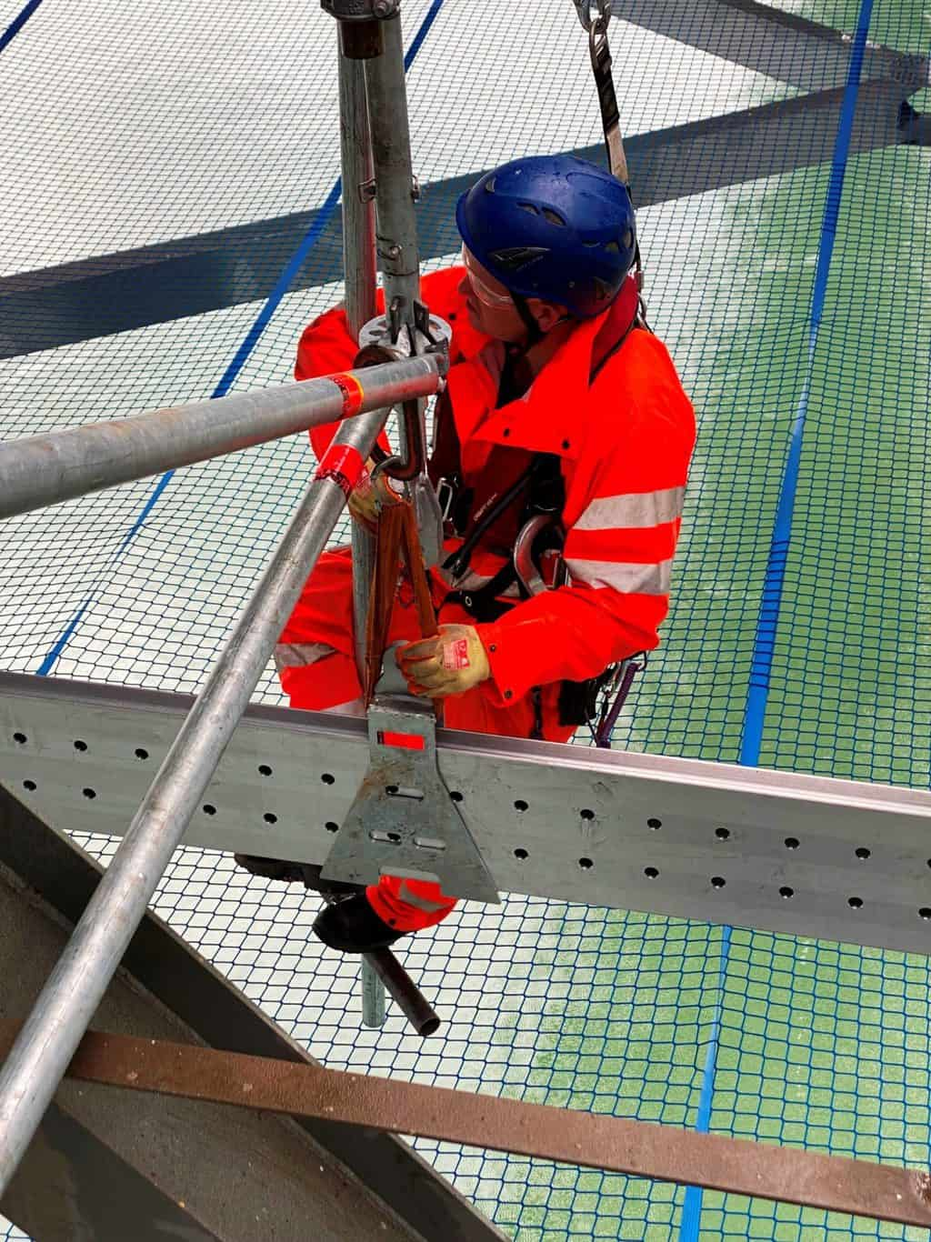 Working on the Forth Road Bridge I-Scaff Access Solutions Ltd have installed the UK's largest suspended scaffold that uses Layher's cutting edge'FlexBeam'.